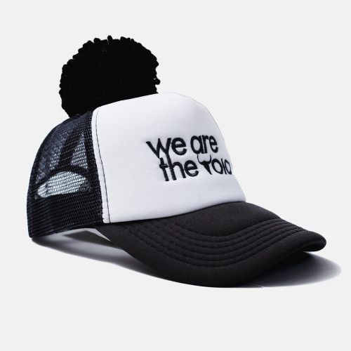 we are the voice, cap, hat, booso, black, white, summer hat, babylution, eshop, kids, clothes, accessories