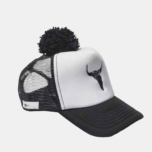 bison, cap, hat, booso, black, white, summer hat, babylution, eshop, kids, clothes, accessories
