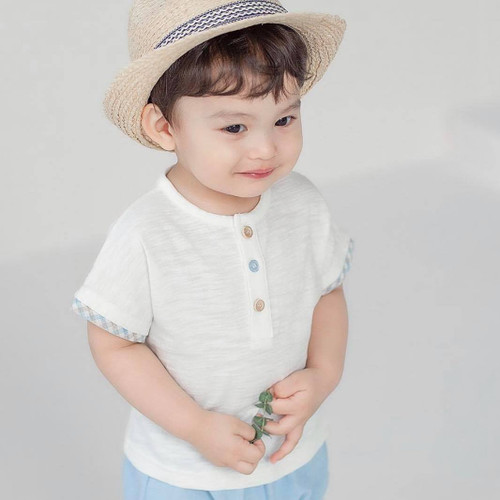 Hoi, boy, cute, prince, brown, blue, sky blue, set, easywear, everyday, cristening, babylution