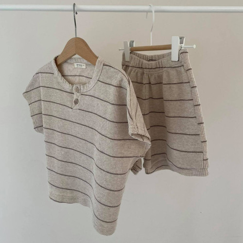Cappuccino, waffle, boy, girl, set, bottom, top, beige, cocoa, brown, babylution, eshop