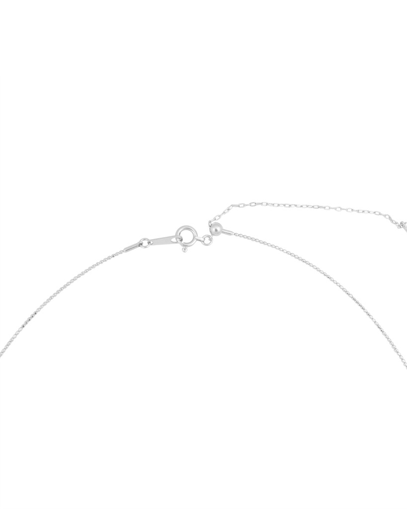 18K White Gold Adjustable Textured Wire Necklace
