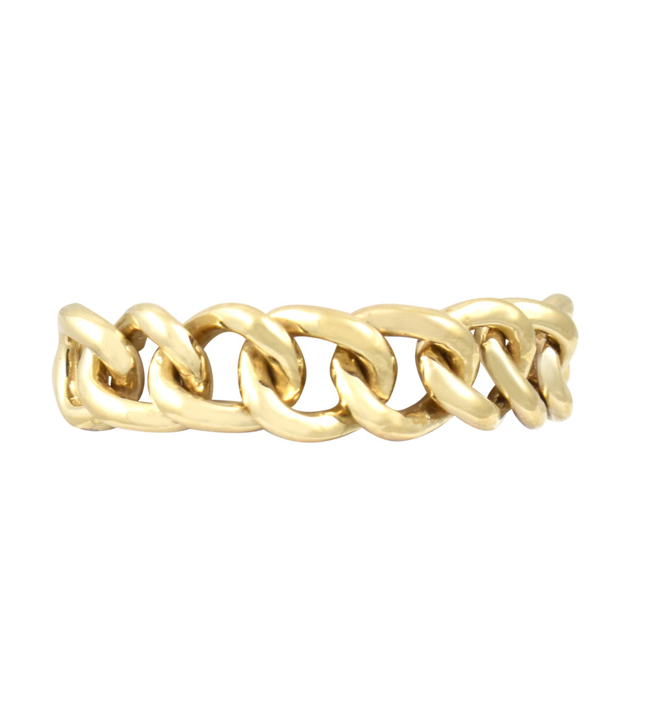 14K Solid Yellow Gold  Chain Ring