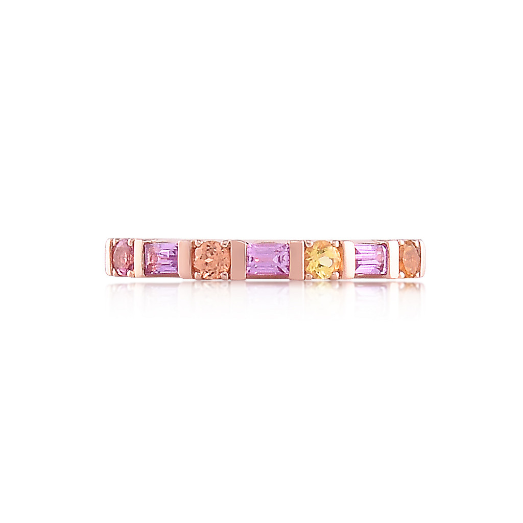 Citrine & Diamonds 14K Rose Gold Multi-Shape Semi-Precious Stone Ring