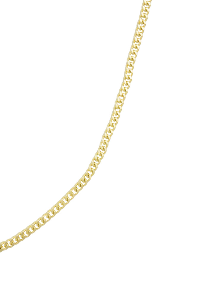 14K Yellow Gold Curb Linked Chain Necklace