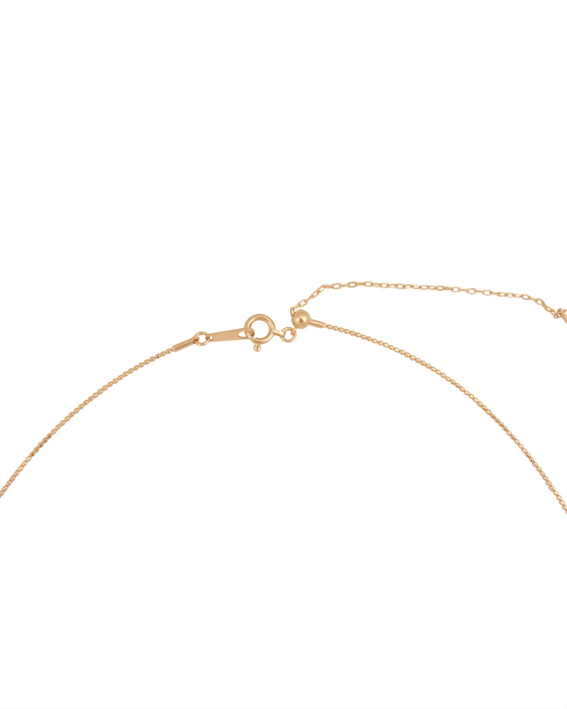 18K Rose Gold Adjustable Textured Wire Necklace 16-18""