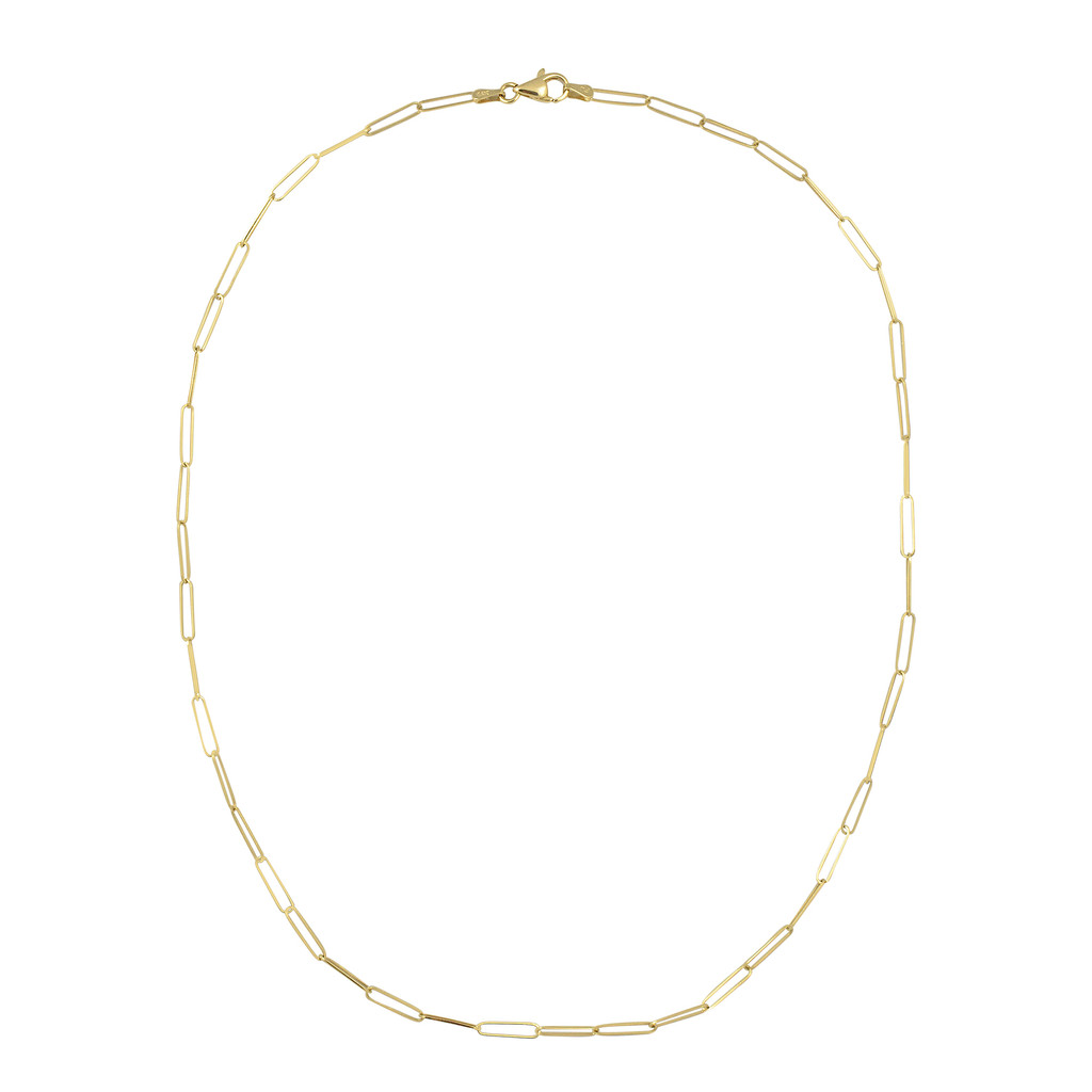 The Skinny Paperclip 14K Yellow Gold Chain