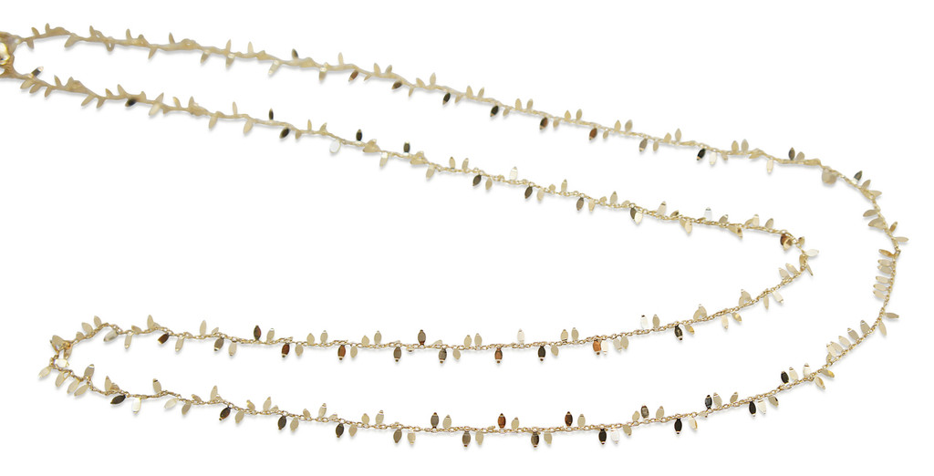 18K Gold Plated Delicate Leaf Sterling Silver Necklace - Stevie Wren Fine Jewelry