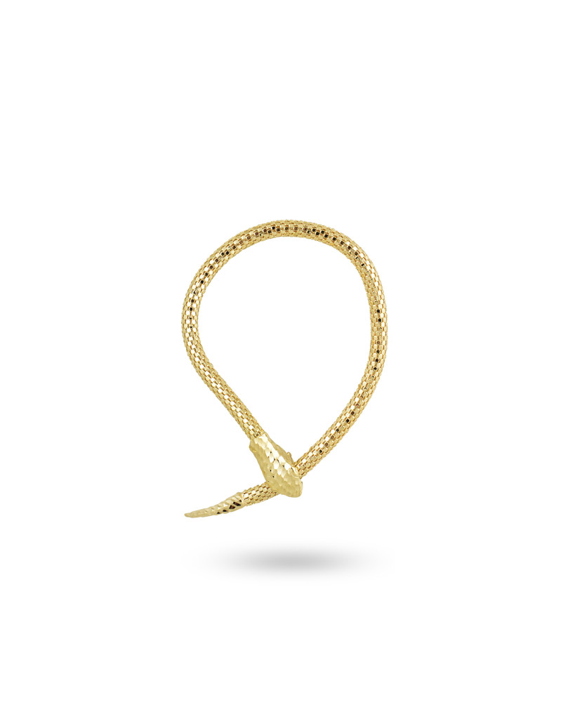 18K Yellow Gold Plated Sterling Silver Snake Bracelet