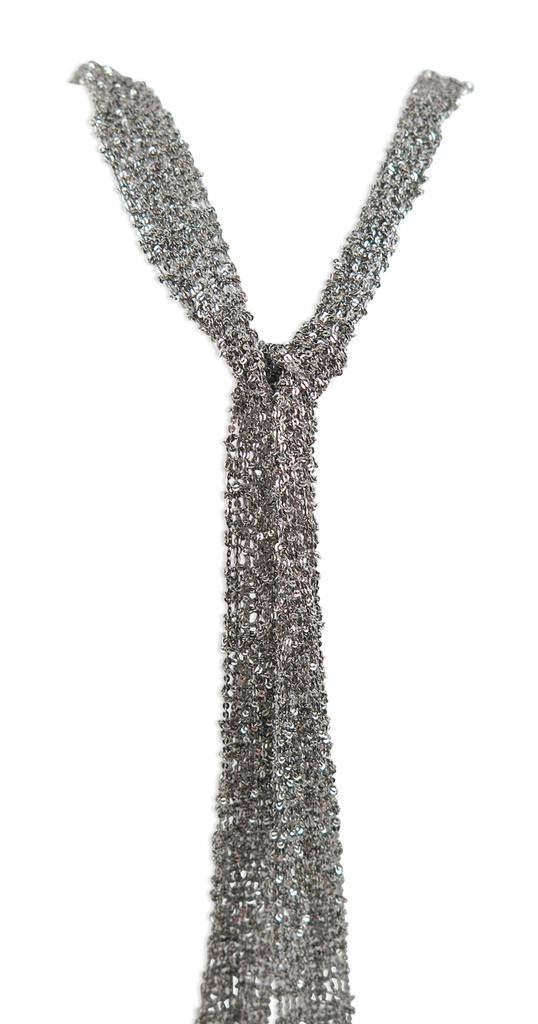 Oxidized Silver Hand Woven Mesh Scarf Necklace - Stevie Wren Fine Jewelry