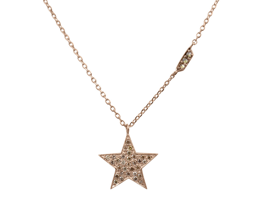 Champagne Diamond 14K Star Necklace