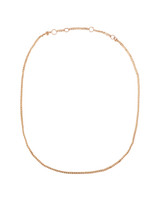 14K Rose Gold Curb Linked Chain Necklace