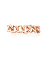 Solid 14K Rose Gold Chain Ring