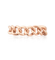 14K Solid Rose Gold Chain Ring