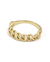 Solid 14K Yellow Gold Chain Ring