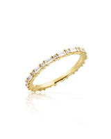 White Diamond 14K Yellow Gold Baguette Eternity Band
