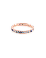 Blue Diamonds 14K Rose Gold Semi-Precious & Precious Stone
