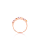 Citrine & Tourmaline 14K Rose Gold Multi-Shape Semi-Precious Stone Ring