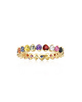 Multi-Colored Fancy Sapphire 14K Yellow Gold Eternity Band
