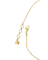 Rainbow & Gray Diamonds 14K Yellow Gold Celestial Charm Anklet