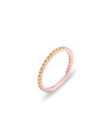Yellow Diamond 14K Rose Gold Micro Pave Eternity Band