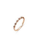 "Pink Diamond 14K Rose Gold ""Flowerette"" Style Stackable Ring"