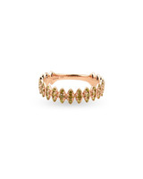 "Yellow Diamond 14K Rose Gold ""Zig-Zag"" Ring"