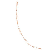 The Skinny Paperclip 14K Rose Gold Chain