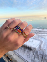 Lapis 14K Yellow Gold Stackable Ring