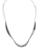 925 Sterling Silver Wave Necklace  - Stevie Wren Fine Jewelry