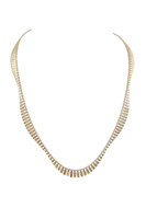 18K Gold Plated Sterling Silver Wave Necklace - Stevie Wren Fine Jewelry