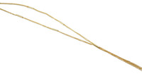 18K Yellow Gold Plated Triple Strand 925 Sterling Silver Necklace - Stevie Wren Fine Jewelry