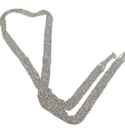 Silver Hand Woven Mesh Scarf Necklace - Stevie Wren Fine Jewelry