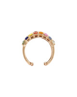 White Diamonds 14K Rose Gold Multi-Colored Sapphire & Garnet Triple Stacked Statement Ring