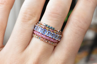 Pink Sapphire 14K Rose Gold Eternity Band