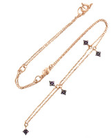 Northern Star Multi-Pink Diamond 14K Rose Gold Charm Necklace