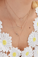"Multi-Pink Diamond ""Smooch"" 14K Rose Gold Necklace with Diamond Dangles"