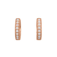 Ethiopian Opal 14K Rose Gold Hoop Earrings