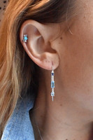 Diamond 14K White Gold & Semi-Precious Stone Mini Cluster Climber (Single, Right)