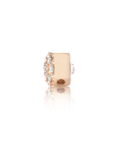 "Pave White Diamond 14K Yellow Gold ""Pillow"" Charm"