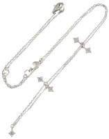 Northern Star White Diamond 14K White Gold Charm Necklace