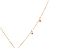 Pink Diamond and Sapphire 14K Rose Gold Heart Pendant Necklace