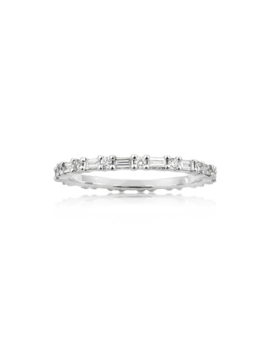 White Diamond 14K White Gold Baguette Eternity Band