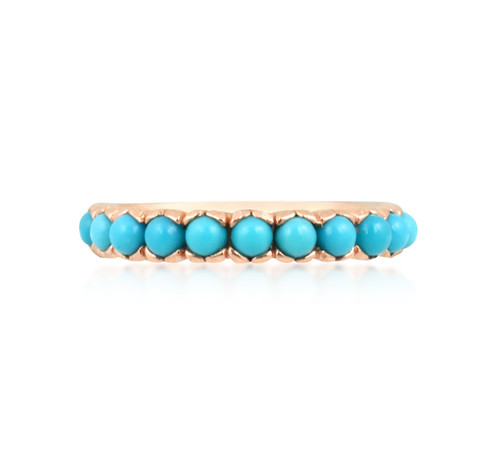 Turquoise 14K Rose Gold Stackable Ring