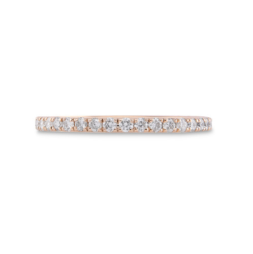 White Diamond 14K Yellow Gold Micro Pave Eternity Band