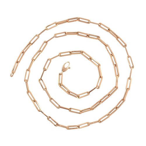 The Chunky Paperclip 14K Rose Gold Chain