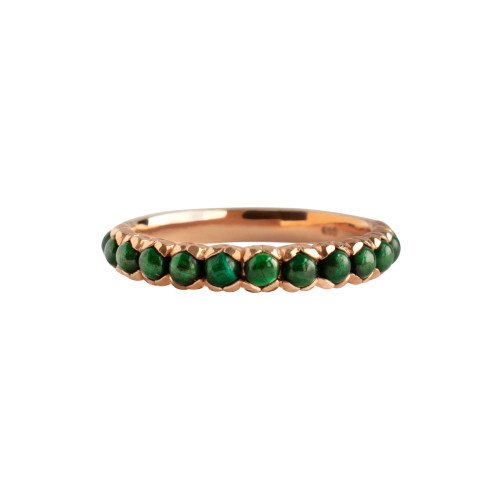 Malachite 14K Rose Gold Stackable Ring