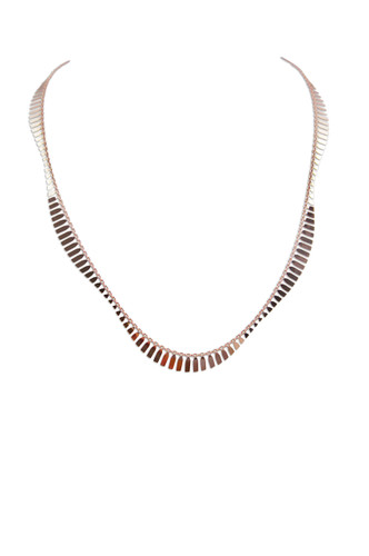 18K Rose Gold Plated Sterling Silver Wave Necklace - Stevie Wren Fine Jewelry