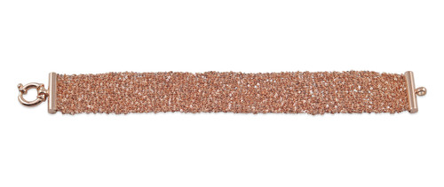 18K Rose Gold Plated Hand Woven Mesh Bracelet - Stevie Wren Fine Jewelry