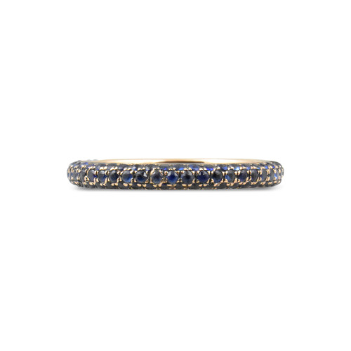 Blue Sapphire 14K Rose Gold Eternity Band