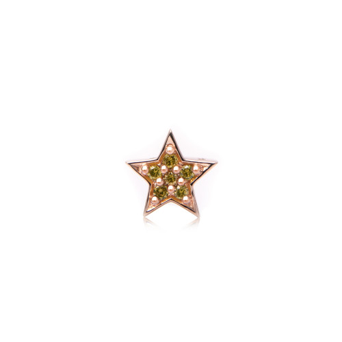 Yellow Diamond 14K Rose Gold Star Charm